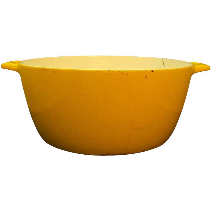 Copco Michael Lax Yellow Dutch Oven Stock Pot Enormous