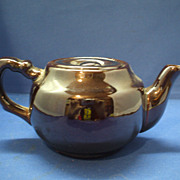 Small Redware Brown Lustre Teapot Occupied Japan