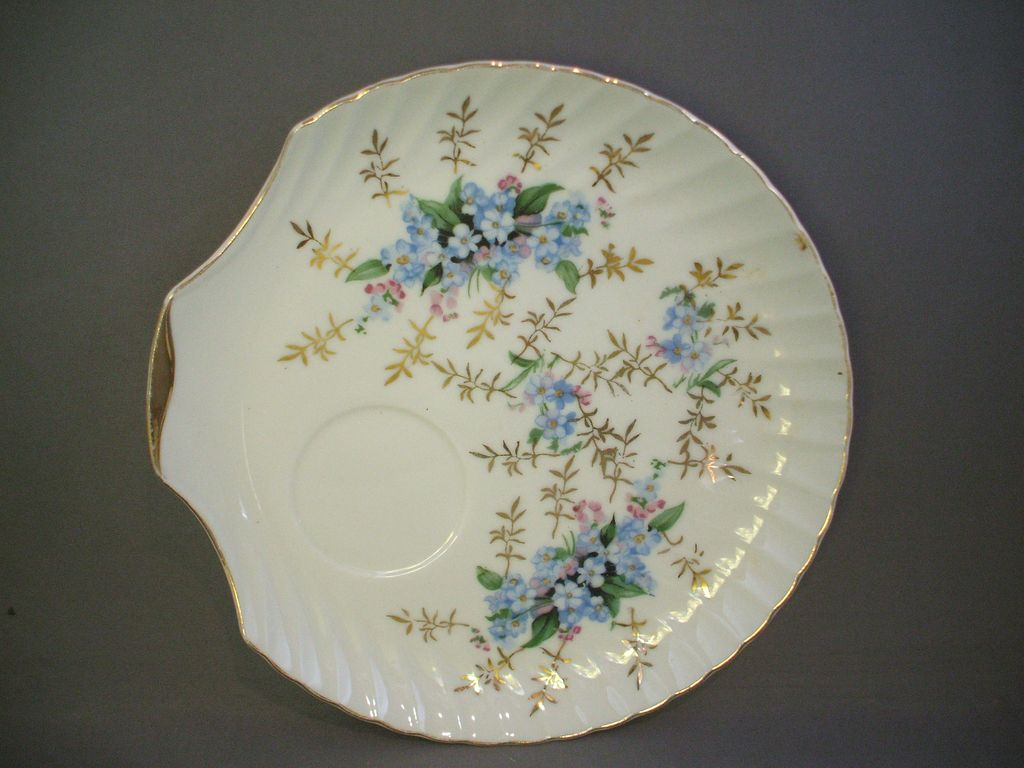 Blue Forget-Me-Nots Porcelain Snack Plate Japan