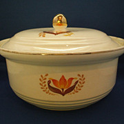 Harker Modern Tulip Covered Casserole Bakerite