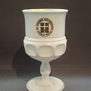 Milk Glass King's Crown Goblet St. Edward's University Spring Formal 1961