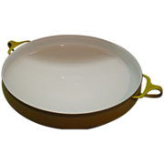 Dansk Kobenstyle Yellow Enamel Paella Pan