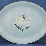 Homer Laughlin Skytone Marcia Harmony House Oval Platter