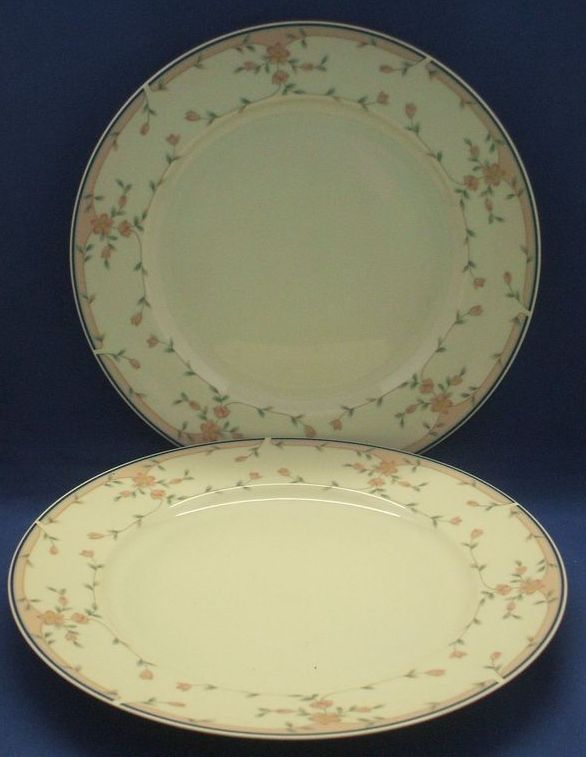 Sango Bridal Rose 1036 Dinner Plates Set of 2
