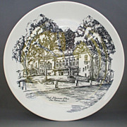Hoyt Sherman Place Des Moines, Iowa Syracuse Syralite Souvenir Plate