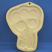 Pampered Chef Celebration Balloons Cookie Mold Stoneware