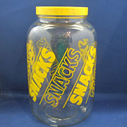 Yellow Snacks Ball Glass Jar