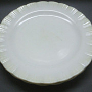 Cremax Ivory Glass Dinner Plates MacBeth-Evans