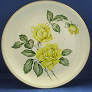 Paden City Pottery Golden Scepter Yellow Roses Dinner Plate
