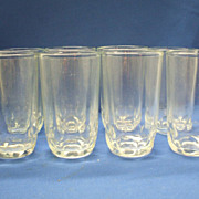 Clear Thumbprint Juice Glasses Tumblers Set of 8