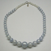 Pale Blue Moonglow Lucite Choker Japan