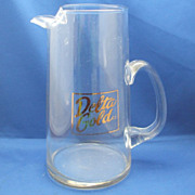 Delta Gold Clear Glass Pitcher Applied Handle
