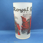 Royal Gorge Colorado Frosted Souvenir Tumbler Hazel Atlas