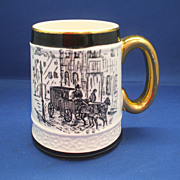 Black & White Currier & Ives Coaching Scenes Style Mug Stein