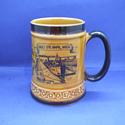 Sault Ste Marie Pottery Souvenir Mug Japan