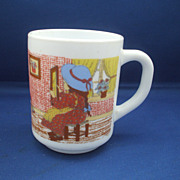 Arcopal Milk Glass Mug Holly Hobbie Style