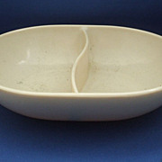 Harmony House Beige Melmac Divided Oval Bowl