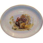 Homer Laughlin Skytone Turkey Oval Platter