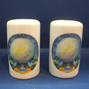 Epcot 1982 Porcelain Salt & Pepper Shakers