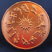Pink Copper Colored Aluminum Zodiac Signs Cake Pan Mold