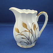 Lefton Wheat Creamer Gold Decoration