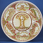 Yellowstone National Park Souvenir Plate Transferware