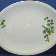 Paden City Pottery Ivy Oval Platter 14&quot;