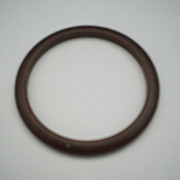 Brown Bakelite Beveled Narrow Bangle