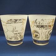Yellowstone Park Jigger Gold Decorated Large Tumblers Glass