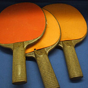 Ping Pong Paddles Orange Rubber Made in USA