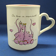 Our Love is Mammoth Porcelain Mug Enesco 1980