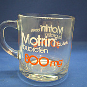 Motrin Promotional Clear Glass Mug Anchor Hocking