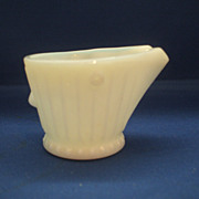 Milk Glass Coal Scuttle Bucket Ashtray