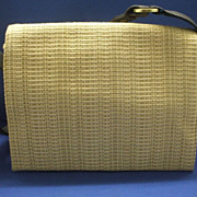Hush Puppies Organizer Shoulder Bag Straw Purse
