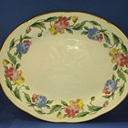 Homer Laughlin Liberty Bright Floral Oval Platter