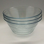 Fire-King Philbe Sapphire Blue Custard Cups Bowls