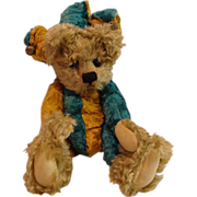 Vintage : Early Cotswold Limited Edition &quot; Jester &quot; Teddy Bear