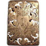 "**Circa 1890's: Reed and Barton Sterling Silver Scent Box,Engraved "" A """