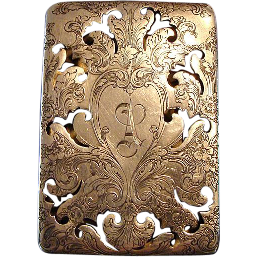 *Circa 1890's: Reed and Barton Sterling Silver Scent Box,Engraved &quot; A &quot;