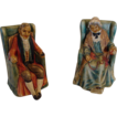 "*Turn of the Century: "" Twilight Years "" Chalkware Bookends"