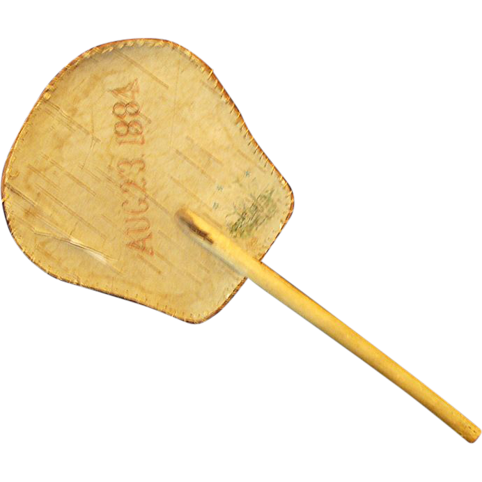 1884: Handmade Birch Bark Hand Fan