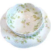 *Limoges Apple Blossom Finger Bowl and Under Plate