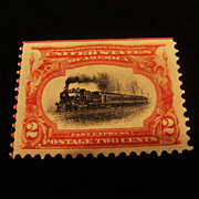 "1901: Mint "" Full Steam Ahead "" Sc.#295 Postage Stamp"