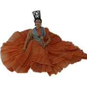 REDUCED 1950's; Flamenco Dancer  Doll