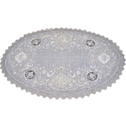Circa 1900: Romantic Victorian Lace Centerpiece