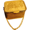 Deeply Etched French Salon Scene, Gilt Box Purse