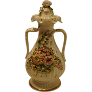Circa 1820's: Early Encrusted Coalport  Vase & Cover