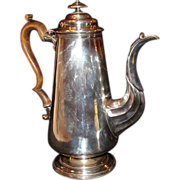 "*Georgian Sheffield Coffee Pot with Engraved ""  Mermaid ""  by Matthew Boulton"