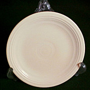 "Genuine Fiesta Ware 7 1.2"" Salad/Dessert Dish, Pale Yellow, circa 1938"