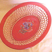 Wicker and Tin Basket, US-Zone Germany, circa 1945-55